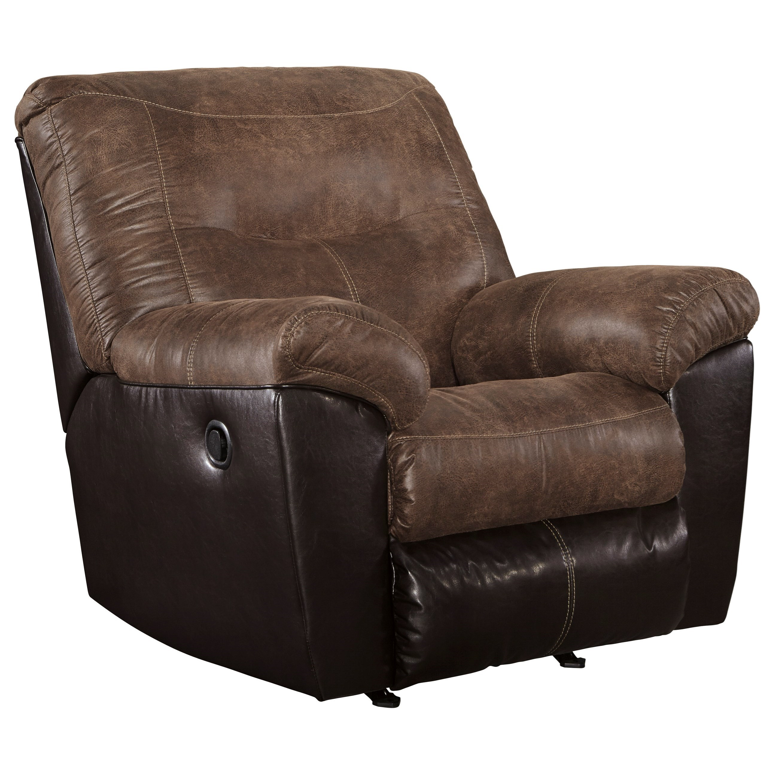 Ashley Recliner Chair Ashley Signature Design Follett 6520225 Two Tone Faux