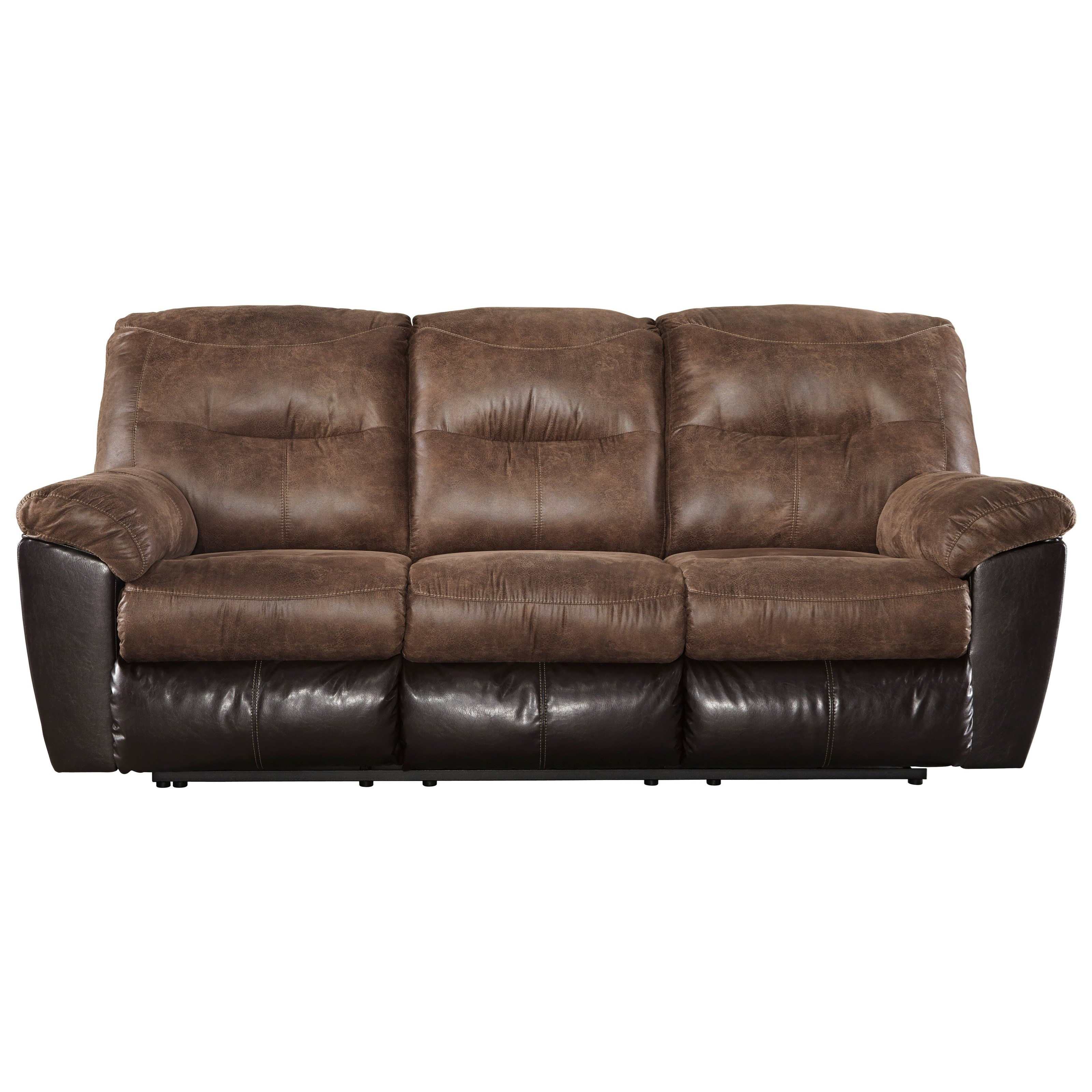 faux leather sectional sofa ashley bed other names signature design by follett 6520288 two tone