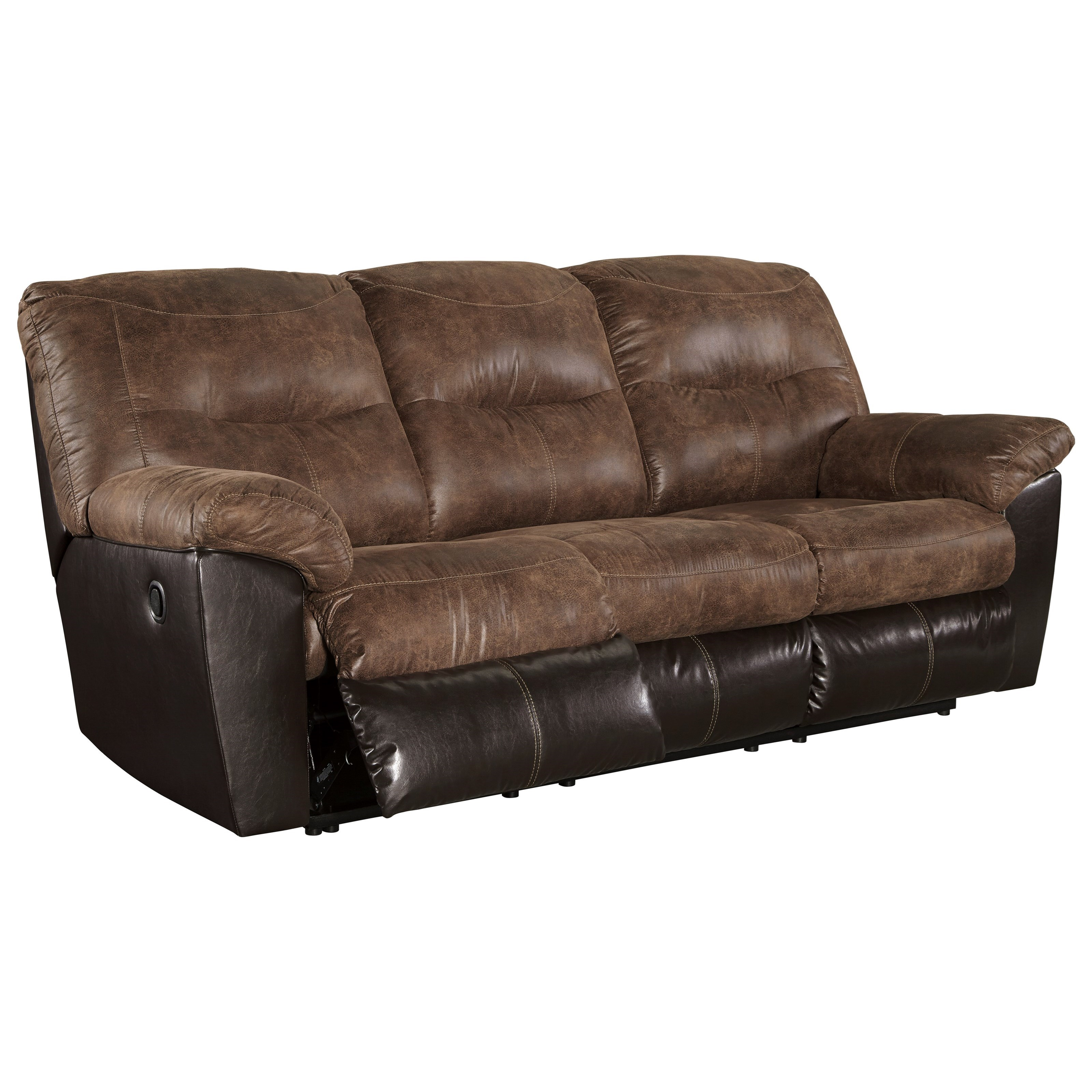 4087 leather sectional sofa with recliners sofas dark blue signature design by ashley follett 6520288 two tone faux