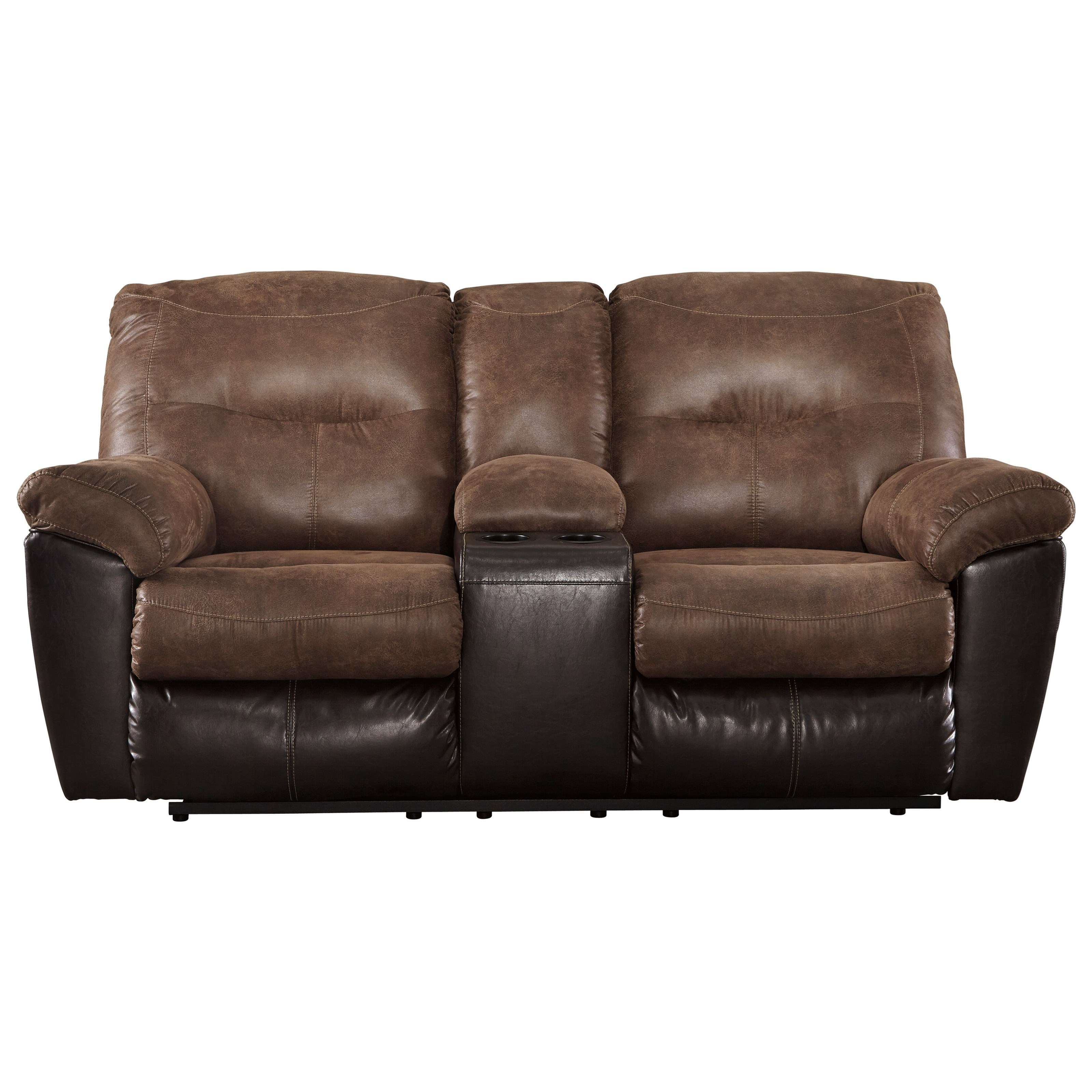 ashley sofa recliners clic clac bed signature design follett 6520294 two tone faux