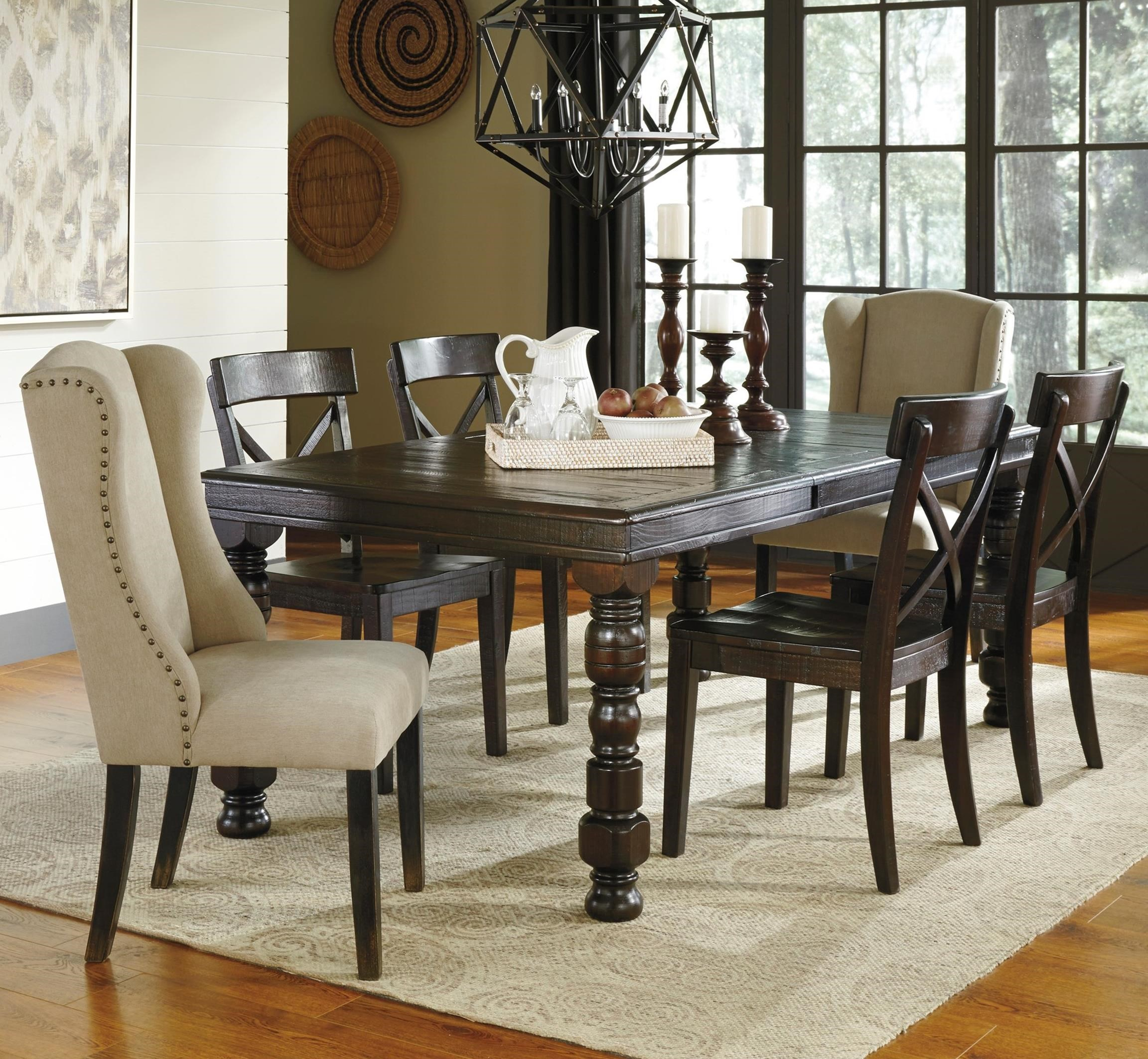 Ashley Dining Room Chairs Signature Design By Ashley Gerlane 7 Piece Solid Pine