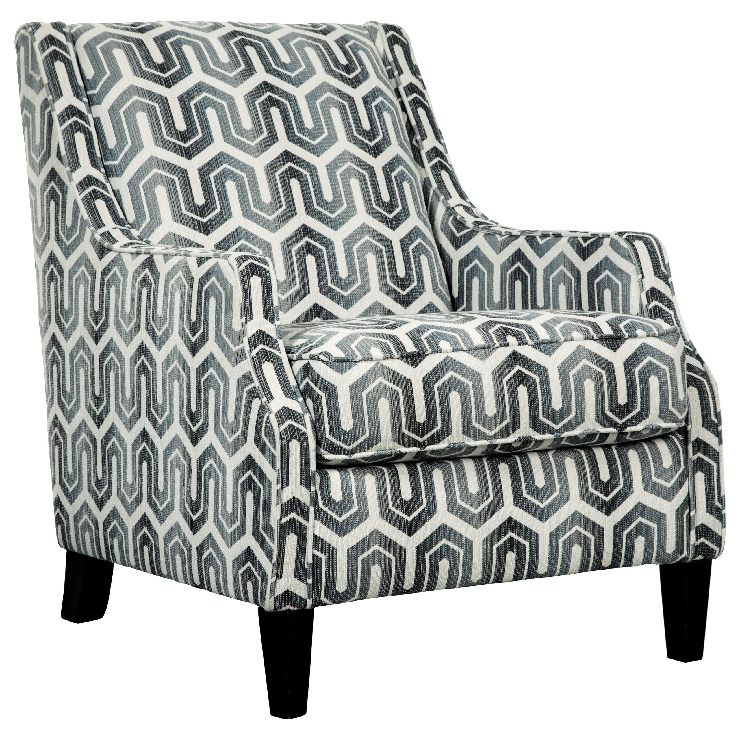 black and white accent chairs with arms statesville chair company signature design by ashley gilmer 6560321 in