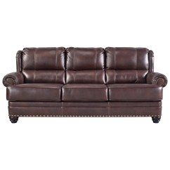Ashley Red Leather Sofa Affordable Home The Honoroak