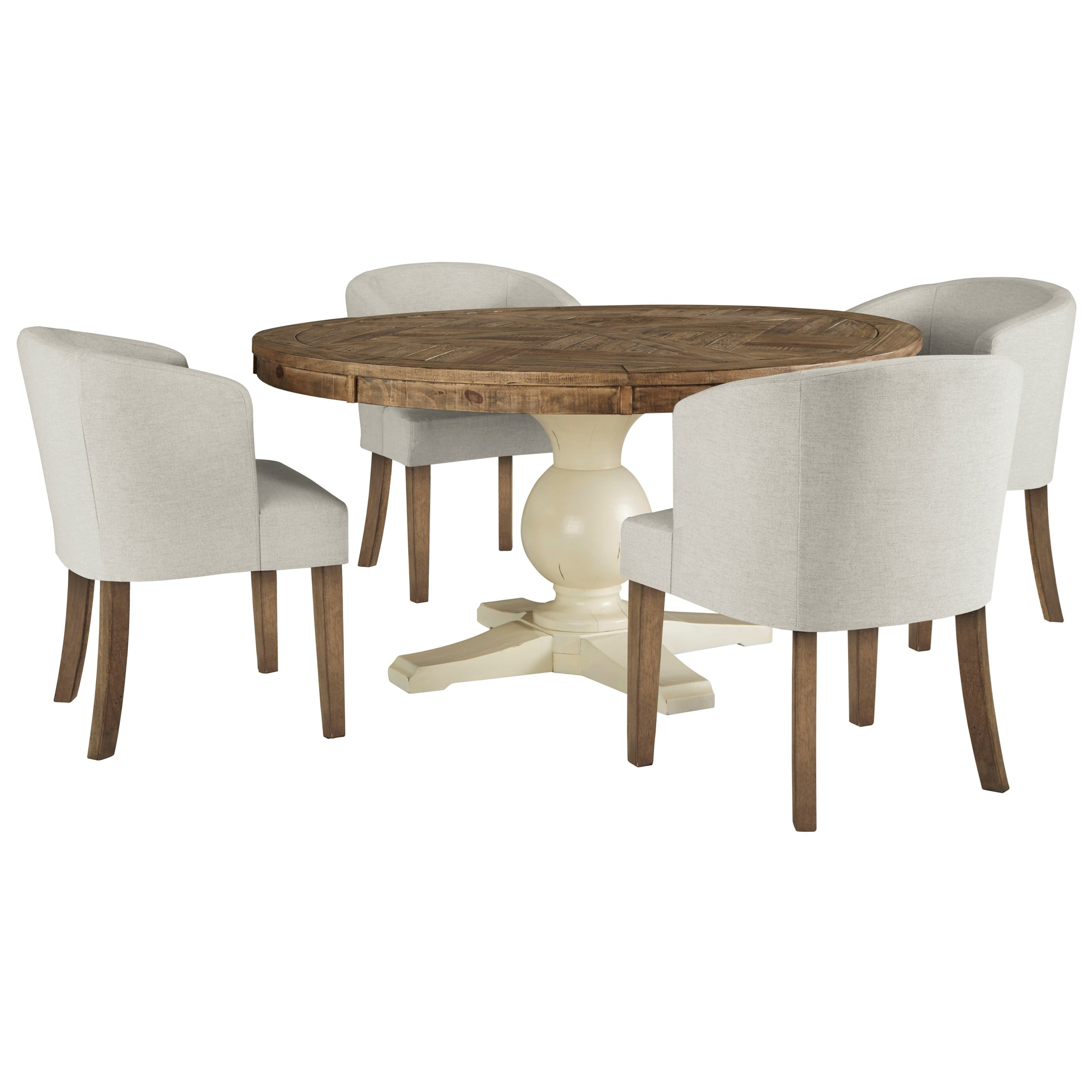 Ashley Furniture Table And Chairs Signature Design By Ashley Grindleburg 5 Piece Round Table