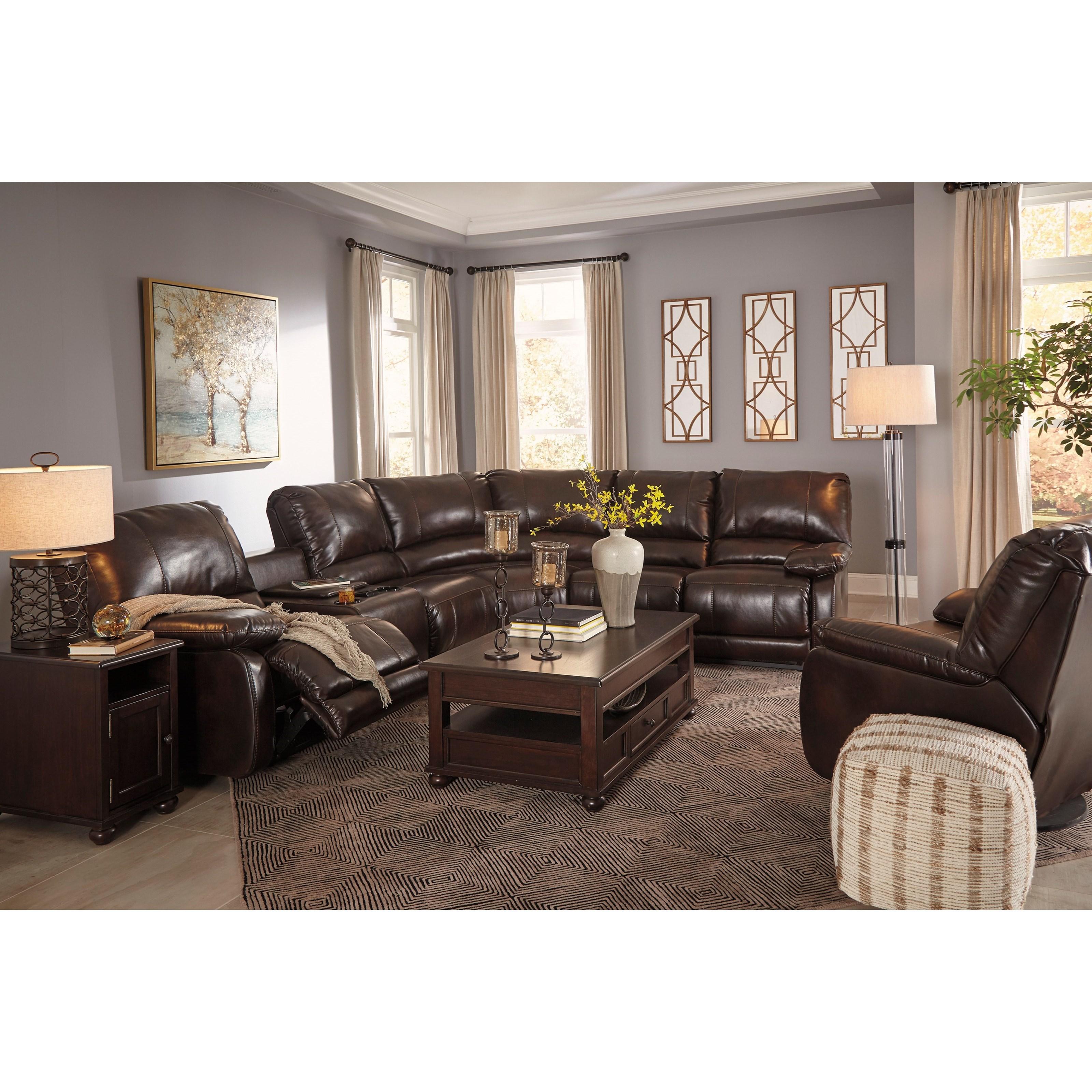 ashley furniture living room chairs futon sleeper chair signature design hallettsville reclining