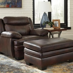 Ashley Chair And Ottoman Tell City Chairs Pattern 4620 Signature Design By Hannalore Contemporary Leather