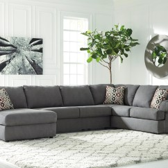 Sofa Ashley Barcelona 2 Cuerpos Light Colored Leather Signature Design Jayceon 3 Piece Sectional With