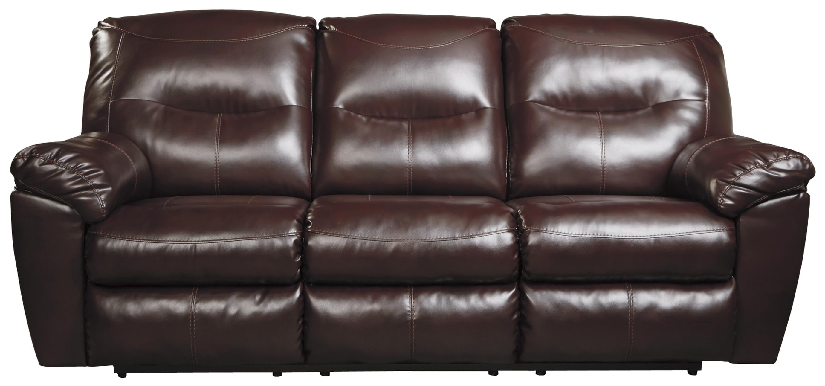 ashley bonded leather sectional sofa high back wing durablend reclining benchcraft by