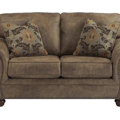 Nailhead Trim Sofa Ashley Best Size For Living Room Signature Design By Larkinhurst Earth Loveseat W