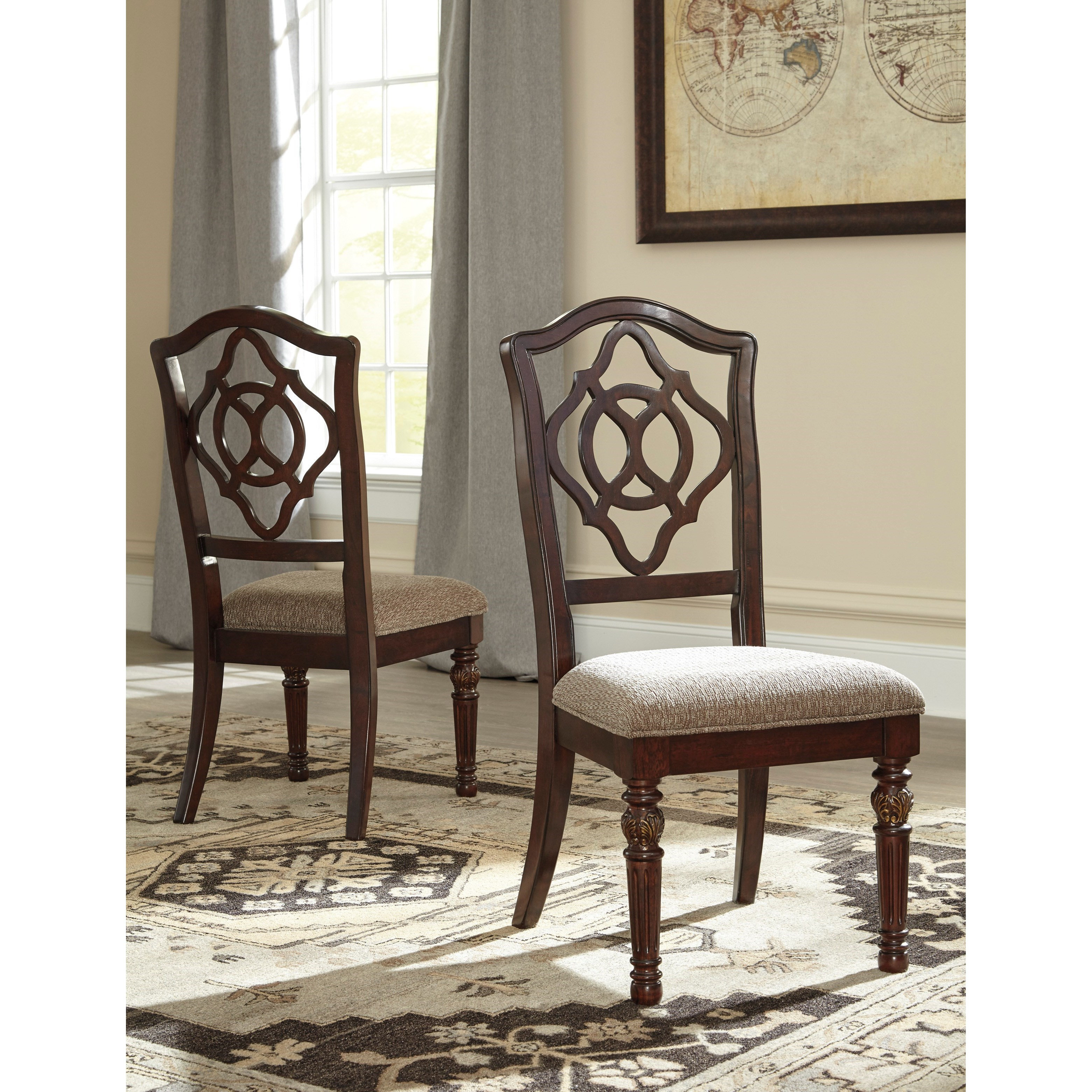 Ashley Dining Room Chairs Signature Design By Ashley Leahlyn D626 01 Traditional