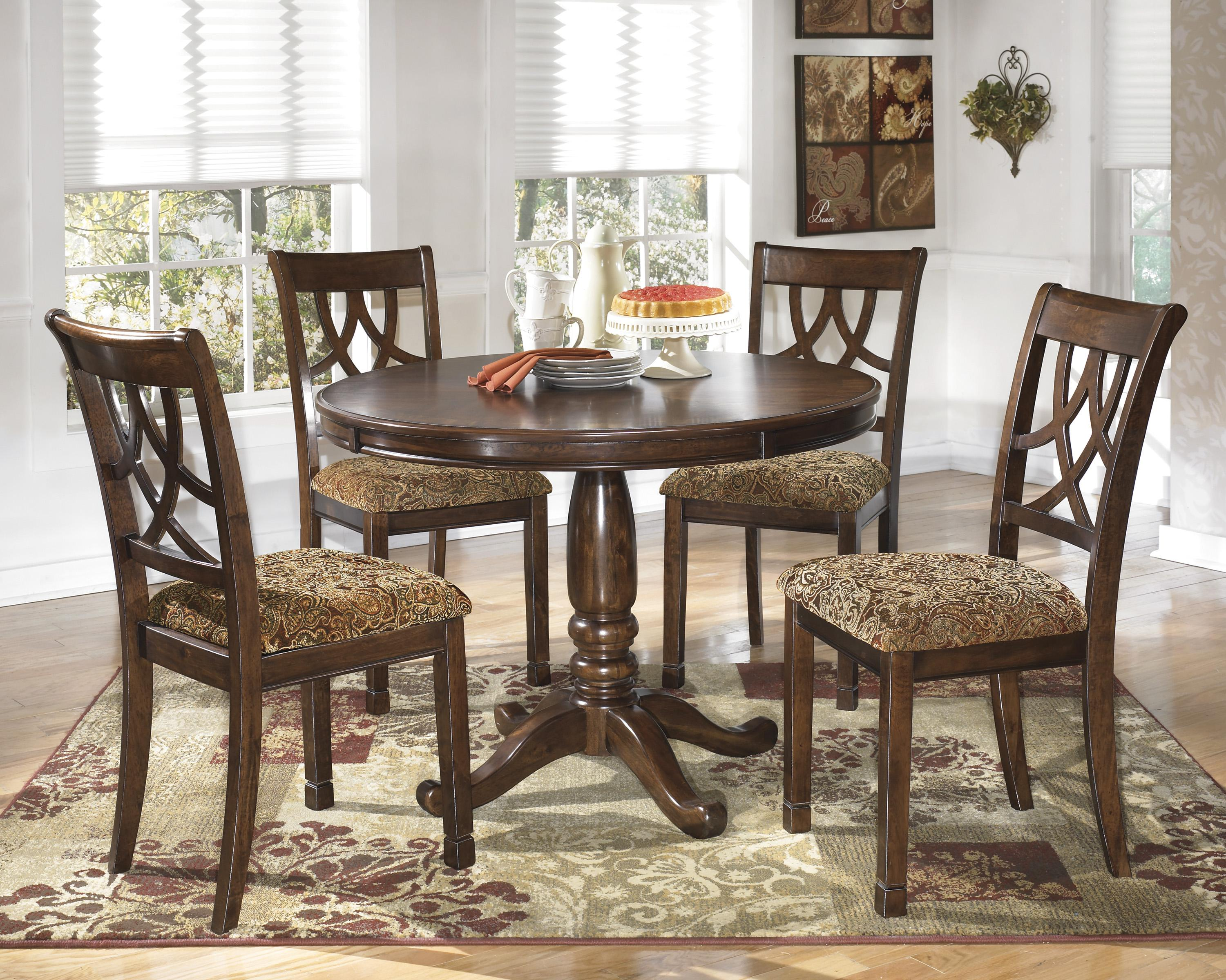 Ashley Dining Room Chairs Signature Design By Ashley Leahlyn D436 01 Cherry Finish