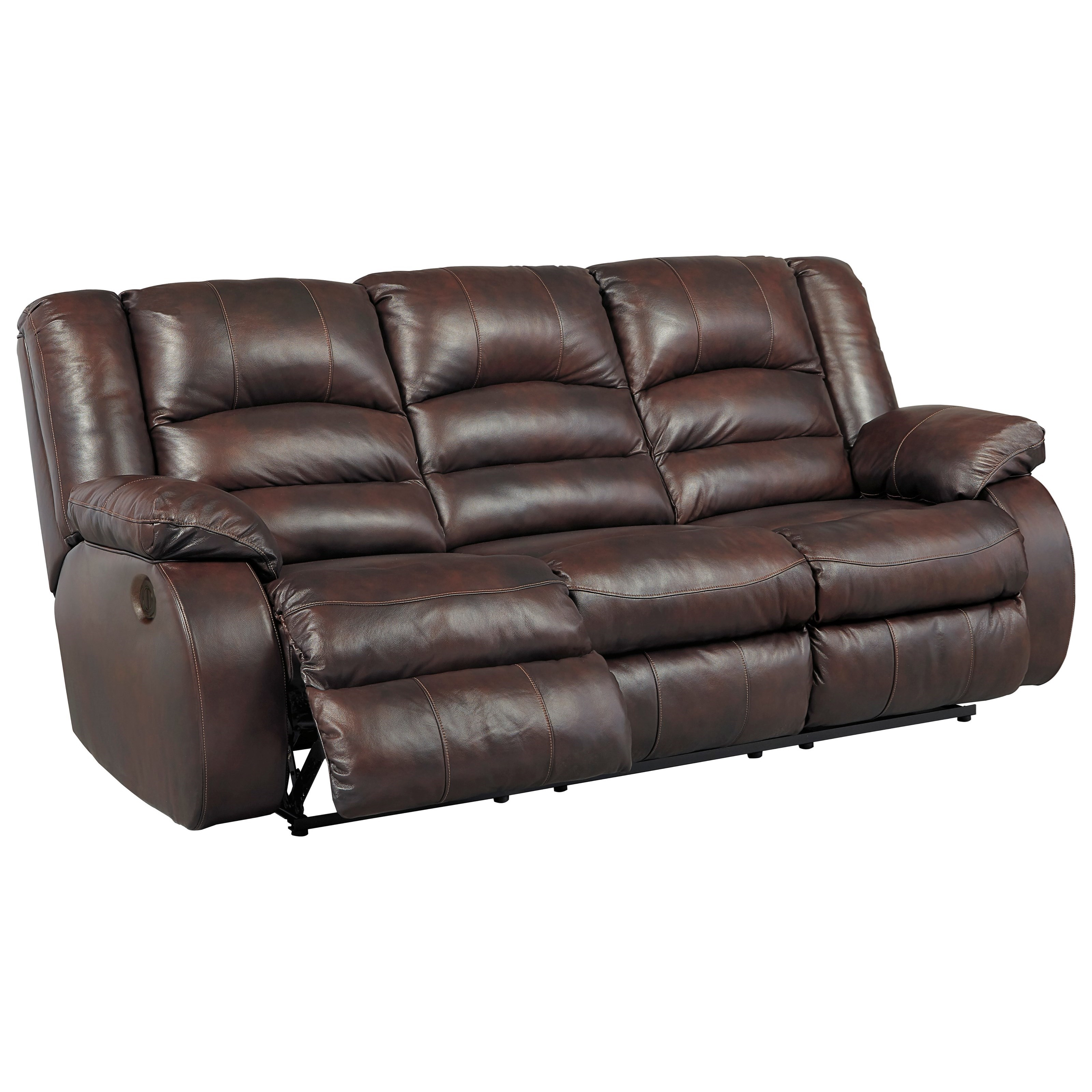 3 pc sectional sofa with recliners funky beds ashley signature design levelland piece leather match