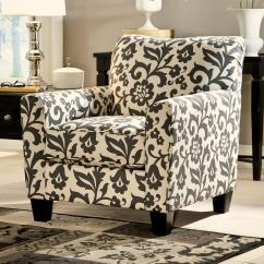 Floral Upholstered Chair Macys Leather Ashley Signature Design Levon Charcoal 7340321 Accent