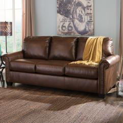 Ashley Bonded Leather Sectional Sofa Small With Reversible Chaise Signature Design By Lottie Durablend Transitional