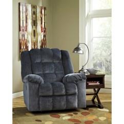 Blue Recliner Chair Lazy Boy Swivel Ashley Signature Design Ludden 8110598 Power Rocker