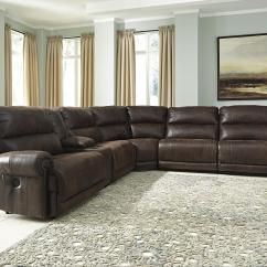 Reclinable Sectional Sofas Corner Sofa Leather Argos Signature Design By Ashley Luttrell 6 Piece Power