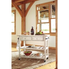 Ashley Furniture Kitchen Island Tuscan Design Signature Marlijo D300 766 Distressed White