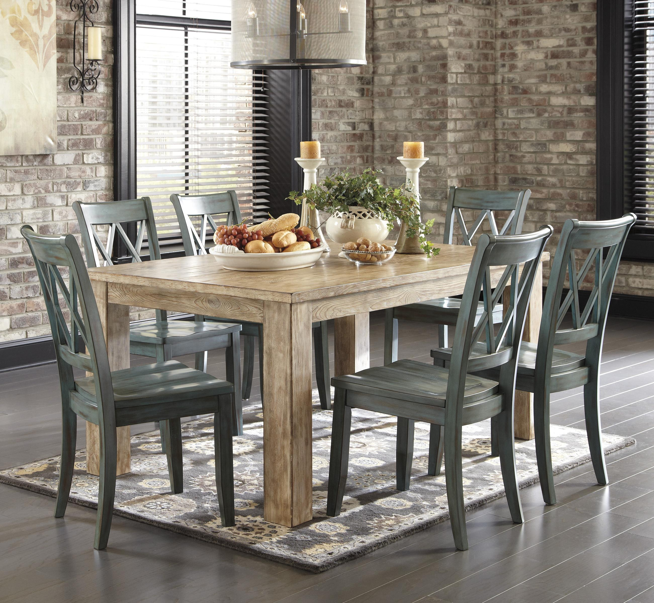 Ashley Dining Room Chairs Signature Design By Ashley Mestler 7 Piece Table Set With