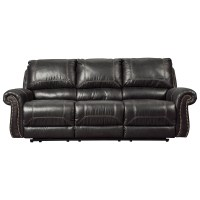 Signature Design by Ashley Milhaven Reclining Sofa with ...