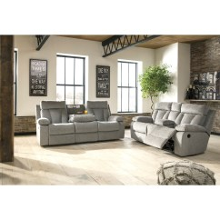 Jamestown 2 Piece Sofa And Loveseat Group In Gray Small Narrow Signature Design By Ashley Mitchiner Reclining Living Room