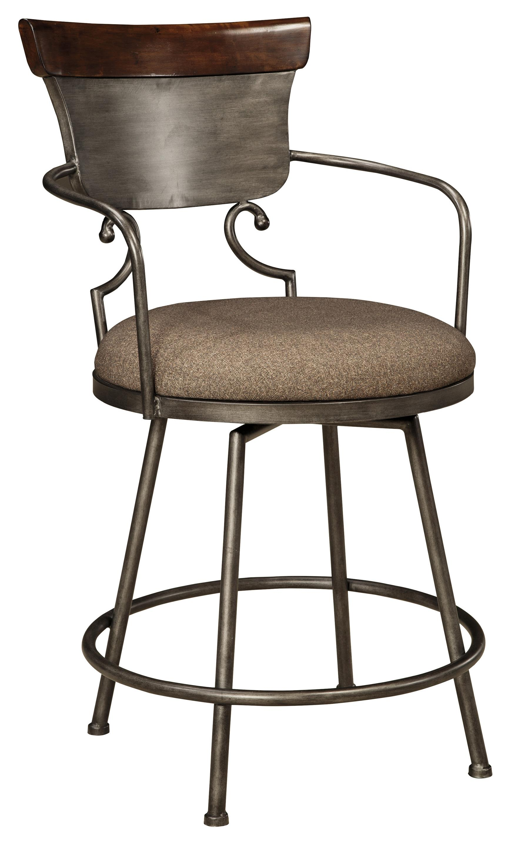 design bar chairs desk chair mat ashley signature moriann upholstered barstool