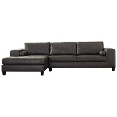 Faux Leather Sectional Sofa Ashley Slipcovers For Furniture Signature Design Nokomis Contemporary
