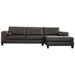 Faux Leather Sectional Sofa Ashley Fabric Recliner Sale Uk Signature Design By Nokomis Contemporary