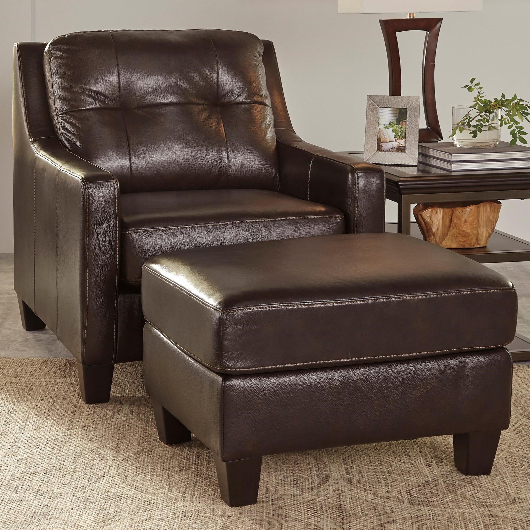 ashley chair and ottoman power car carrier signature design o 39kean contemporary leather match