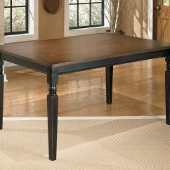 Ashley Furniture Kitchen Table Rugs Under Signature Design Owingsville D580 25 Rectangular