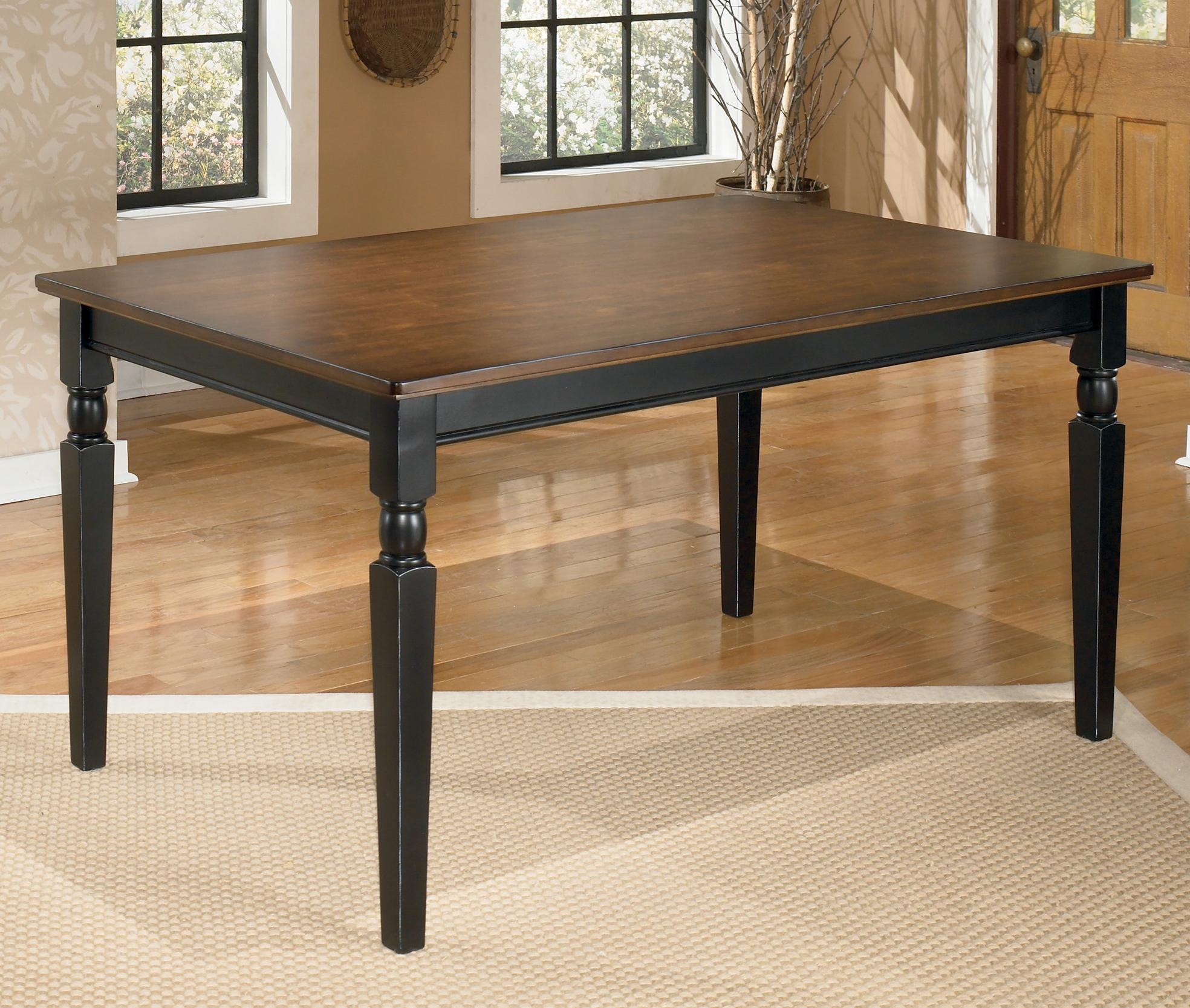 ashley furniture kitchen tables commercial shelving signature design owingsville d580 25 rectangular