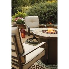 Fire Pit And Chair Set Teen Lounge Chairs Signature Design By Ashley Predmore 3 Piece Round