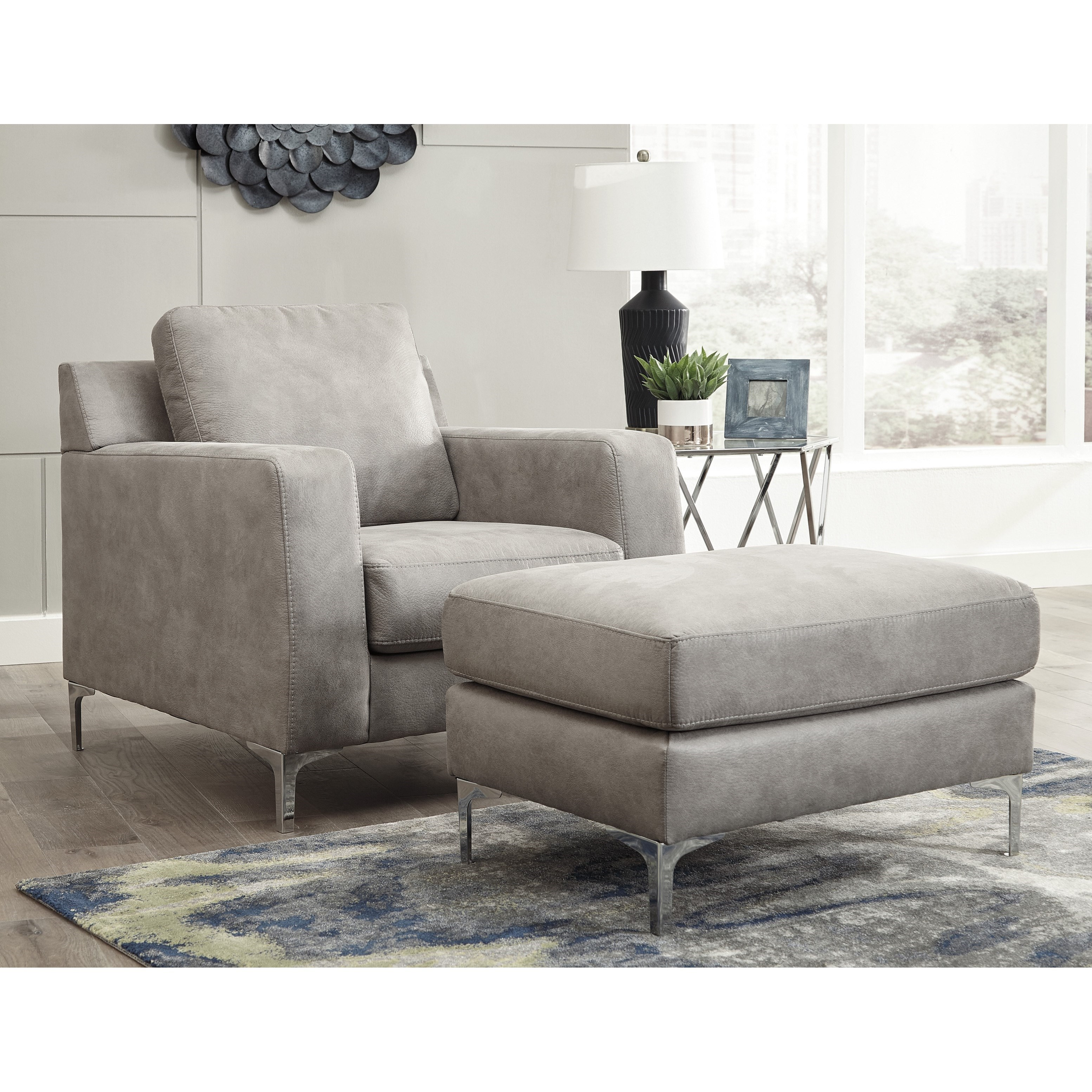 ashley chair and ottoman beach chairs uk argos signature design by ryler contemporary