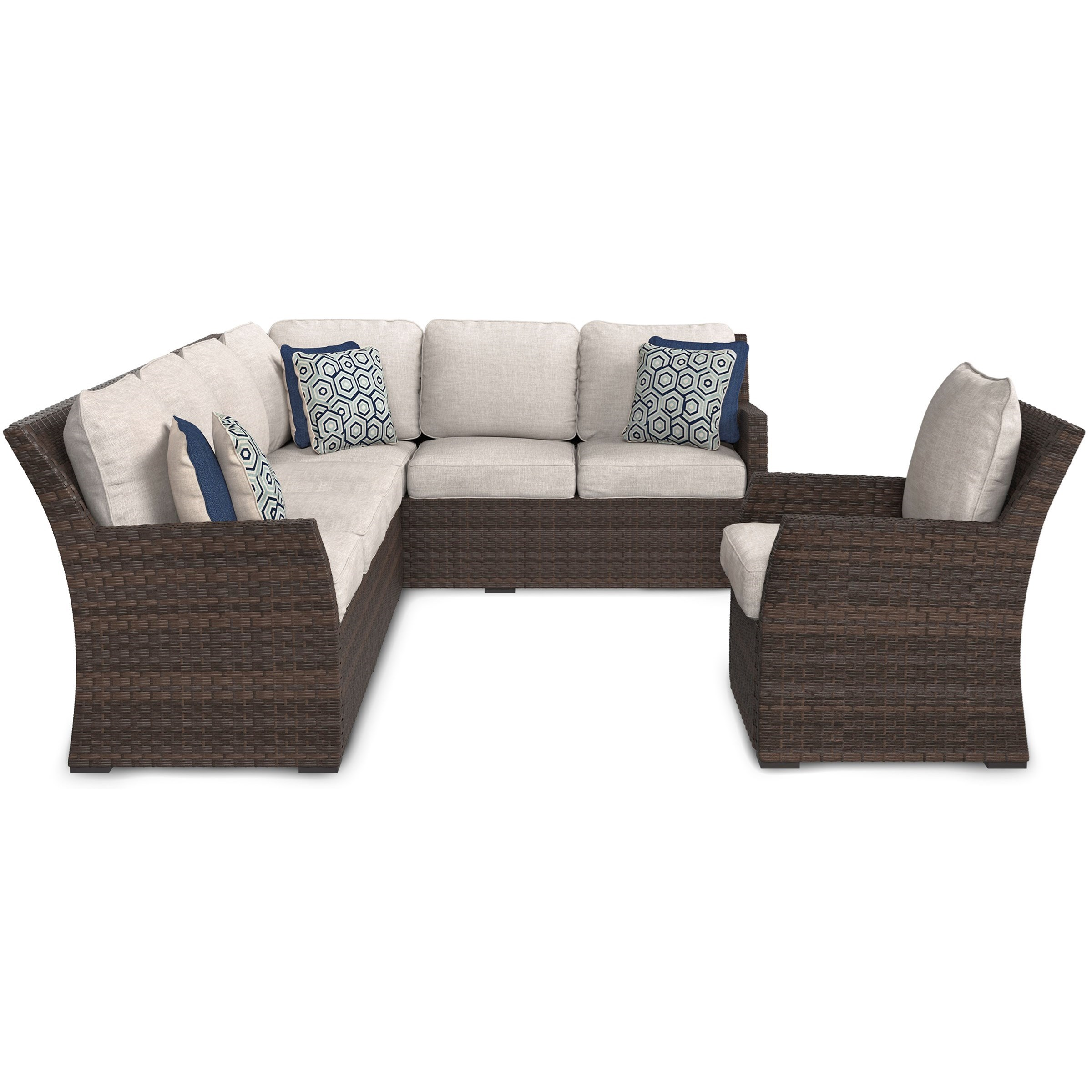 outdoor sofa lounge furniture sofas modernos baratos sandpiper 2 piece sectional and chair set