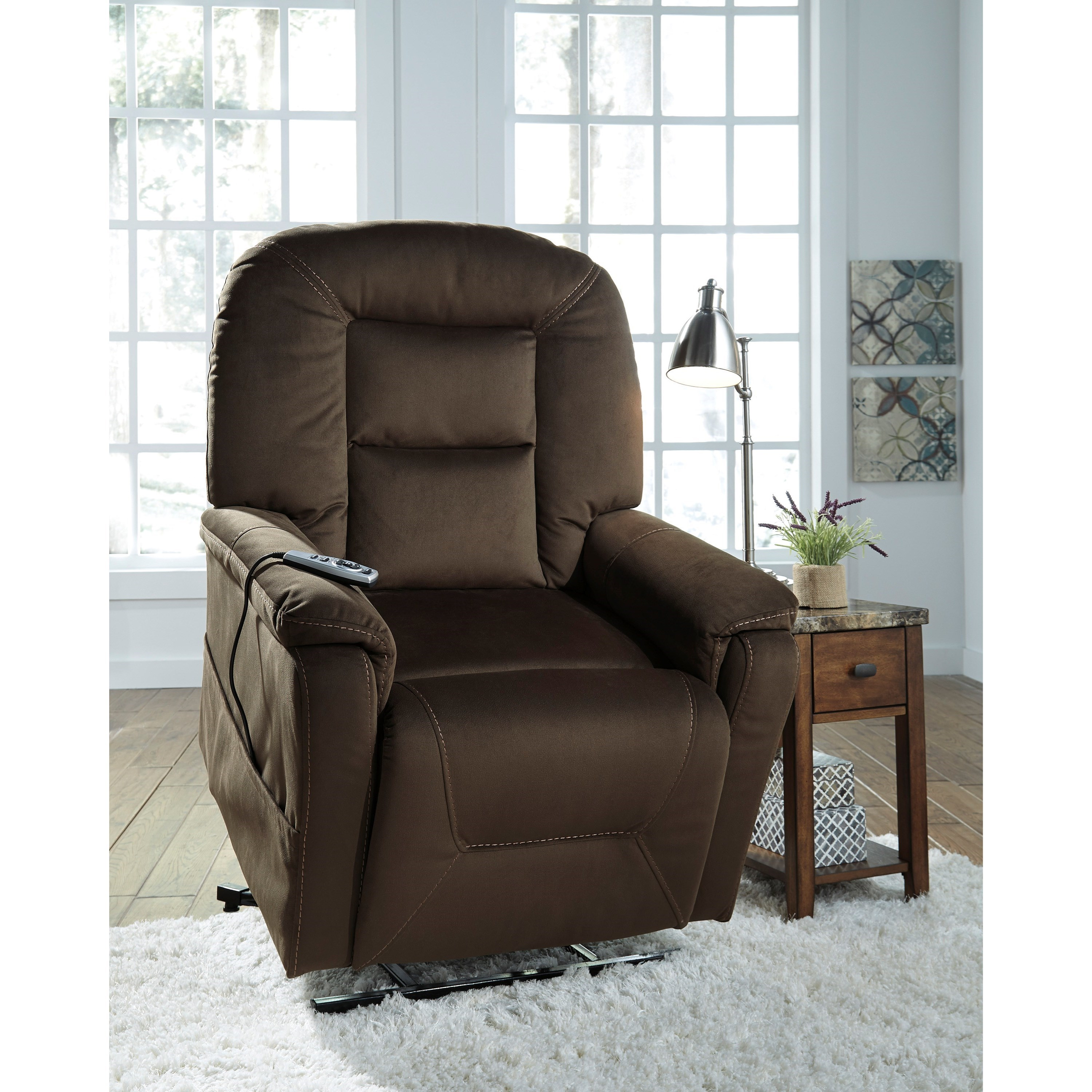 ashley furniture lift chair glider canada signature design by samir power recliner with