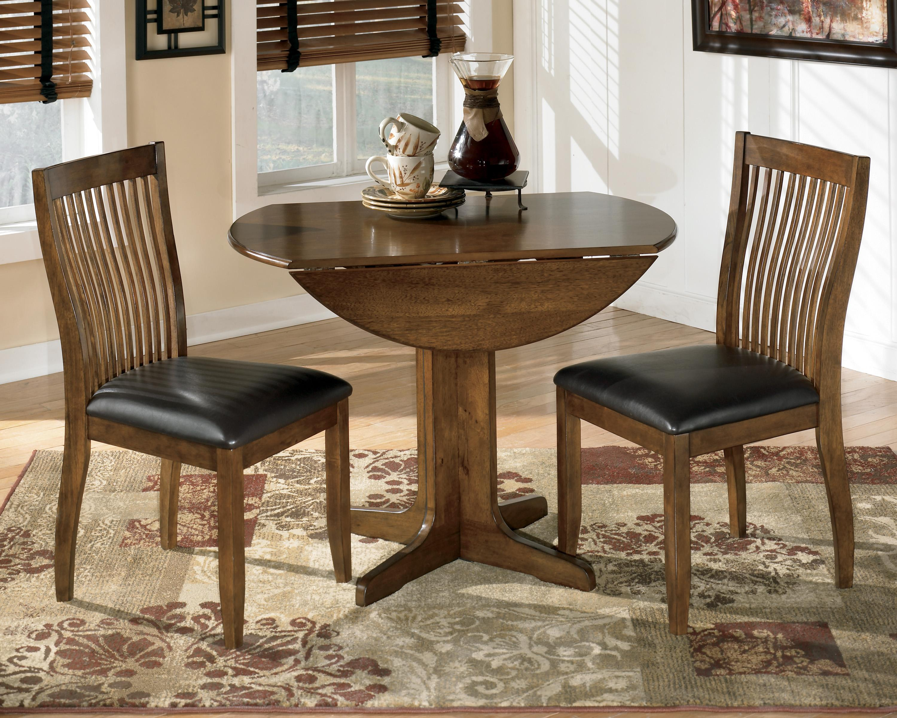 Drop Leaf Table With Chairs Signature Design By Ashley Stuman Round Drop Leaf Table