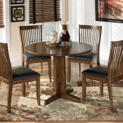 Ashley Furniture Kitchen Chairs White Eyelet Curtains Signature Design By Stuman Round Drop Leaf Table