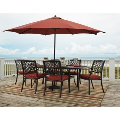 Outdoor Dining Chair Cushions Set Of 4 Table Covers Amazon Signature Design By Ashley Tanglevale