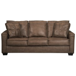 Leather Sectional Sleeper Sofa Queen Saddle Signature Design By Ashley Terrington Faux