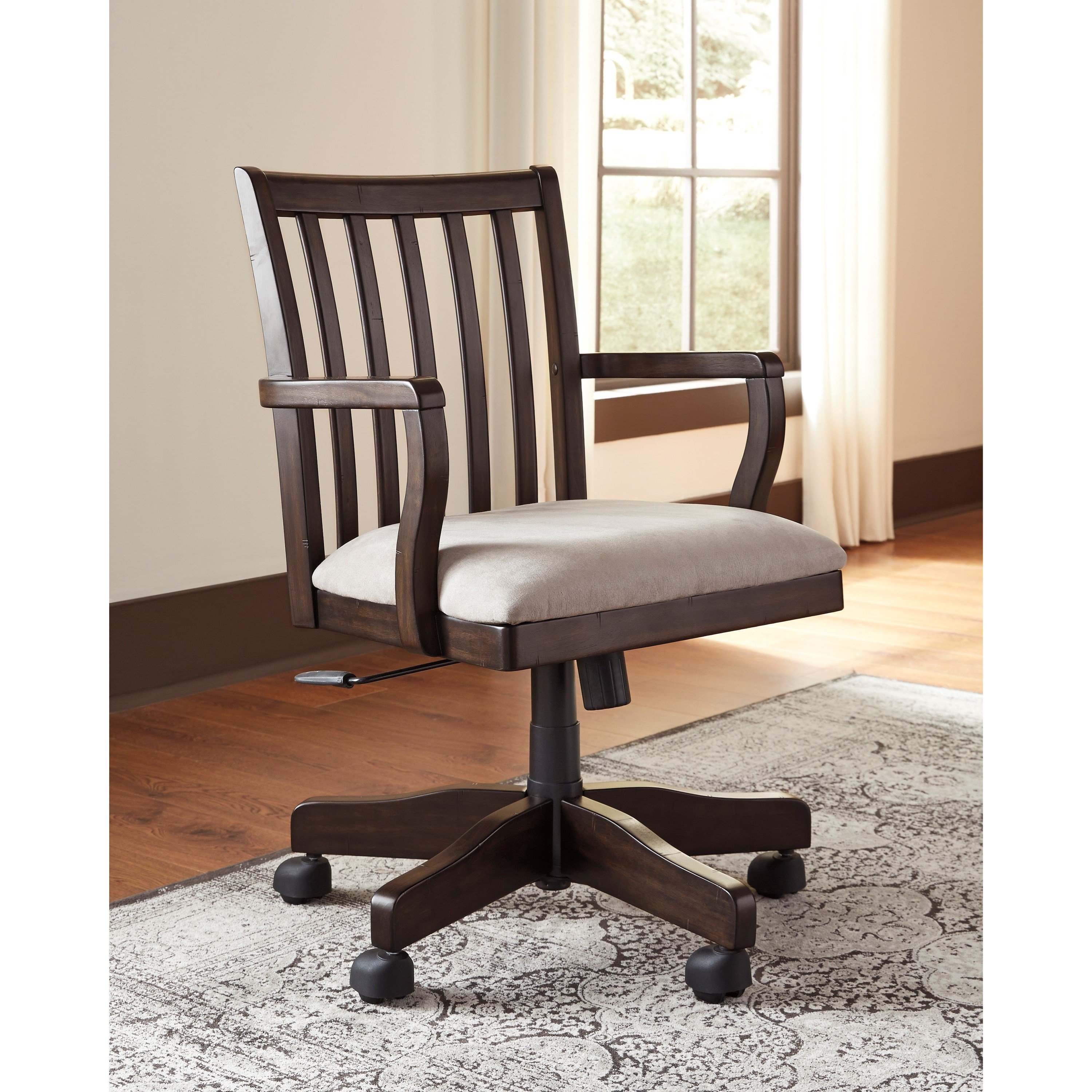 ashley furniture swivel chair wheelchair bedroom signature design by townser home office desk
