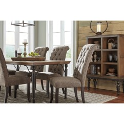 Ashley Dining Room Chairs Solid Wood Table And Signature Design By Tripton D530 02