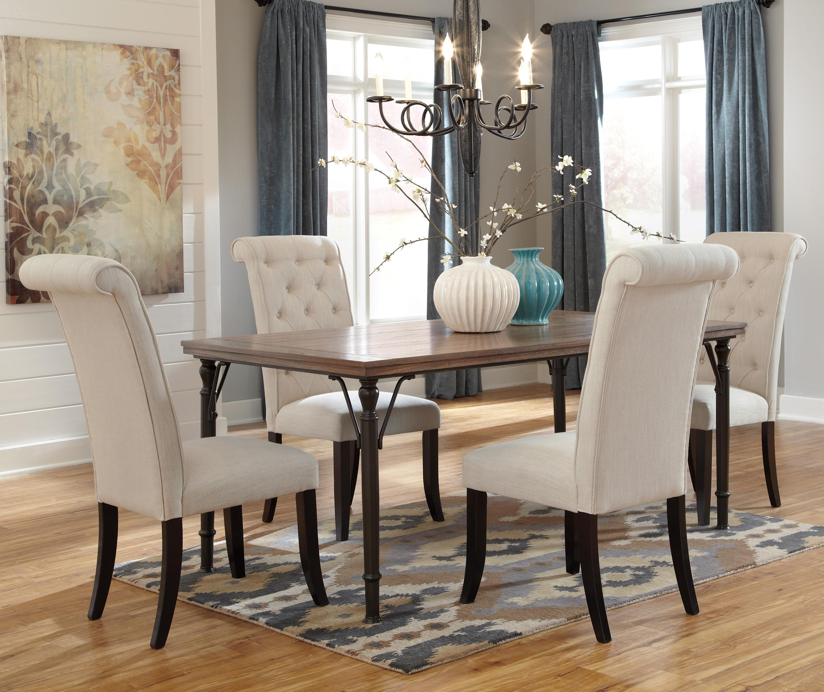 Ashley Dining Room Chairs Signature Design By Ashley Tripton 5 Piece Rectangular
