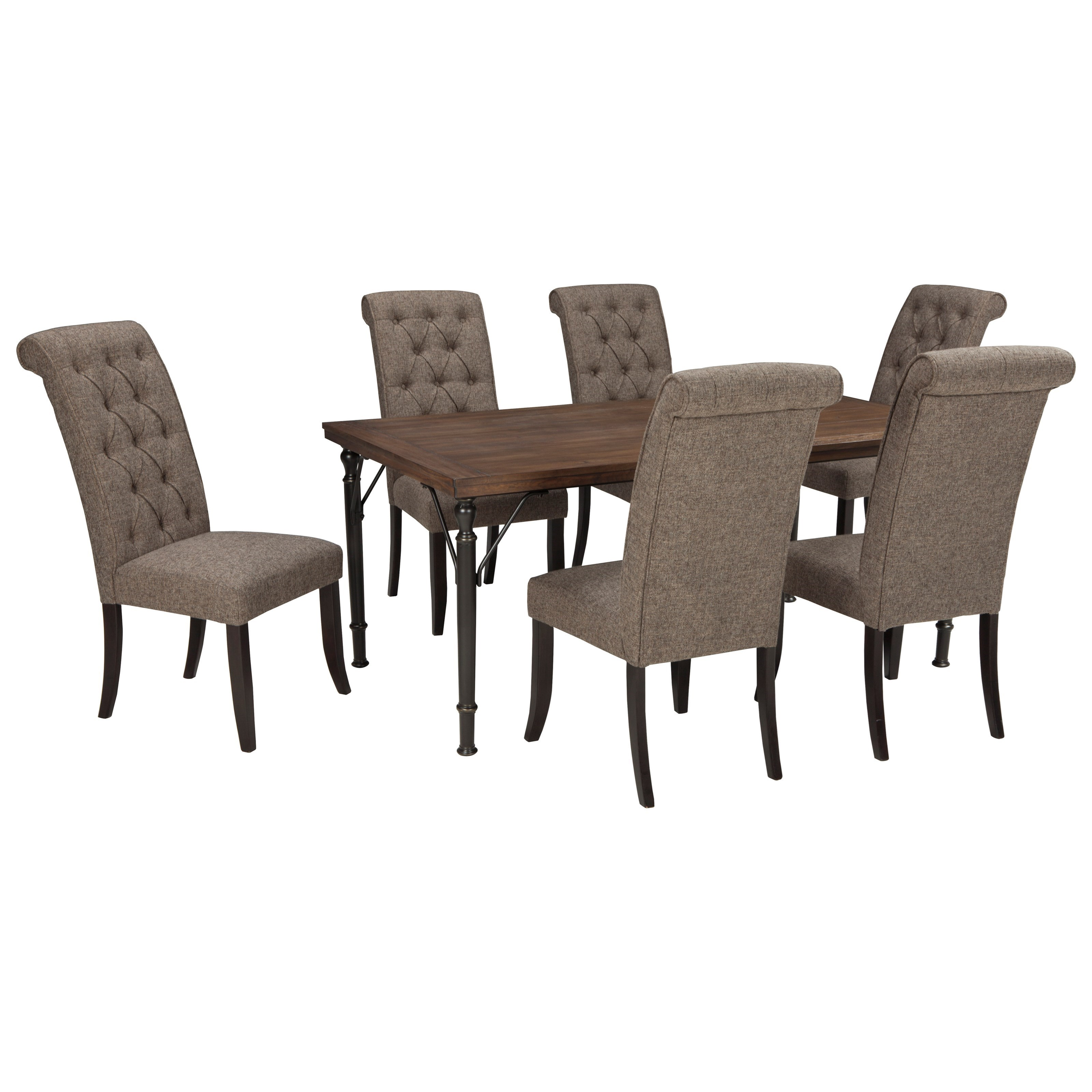 ashley dining room chairs rattan egg chair signature design tripton 7 piece rectangular