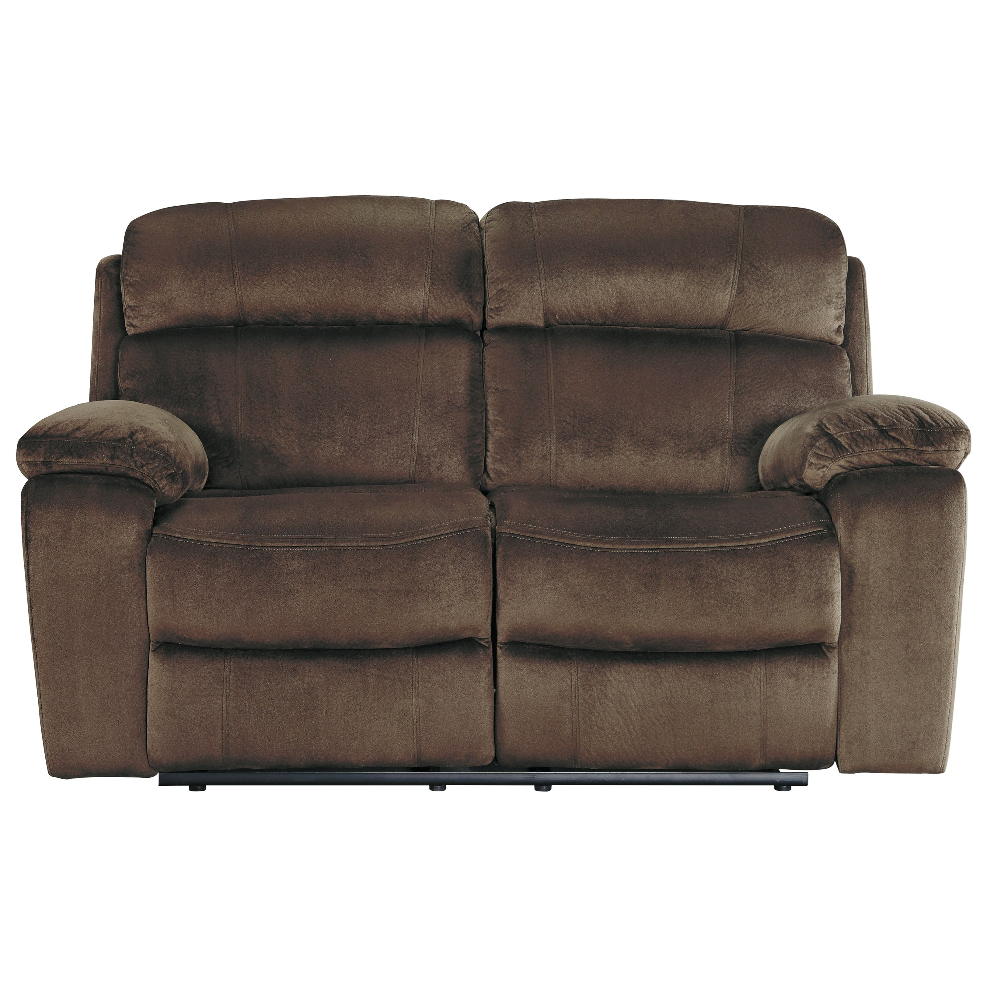 modern power reclining sofa gray leather signature design by ashley uhland 6480314 contemporary