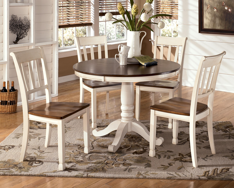 2 chair dining set ergonomic ottawa signature design by ashley whitesburg 5 piece two tone