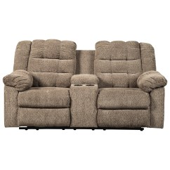 Double Recliner Chairs With Cup Holders Lazy Boy Winston Big And Tall Office Chair Signature Design By Ashley Workhorse 5840194 Casual