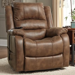 Ashley Furniture Lift Chair Parson Faux Leather Dining Chairs Signature Design Yandel 1090012 Power