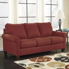 Ashley Sleeper Sofa French Connection Zinc Leather Crimson Signature Design By Zeth