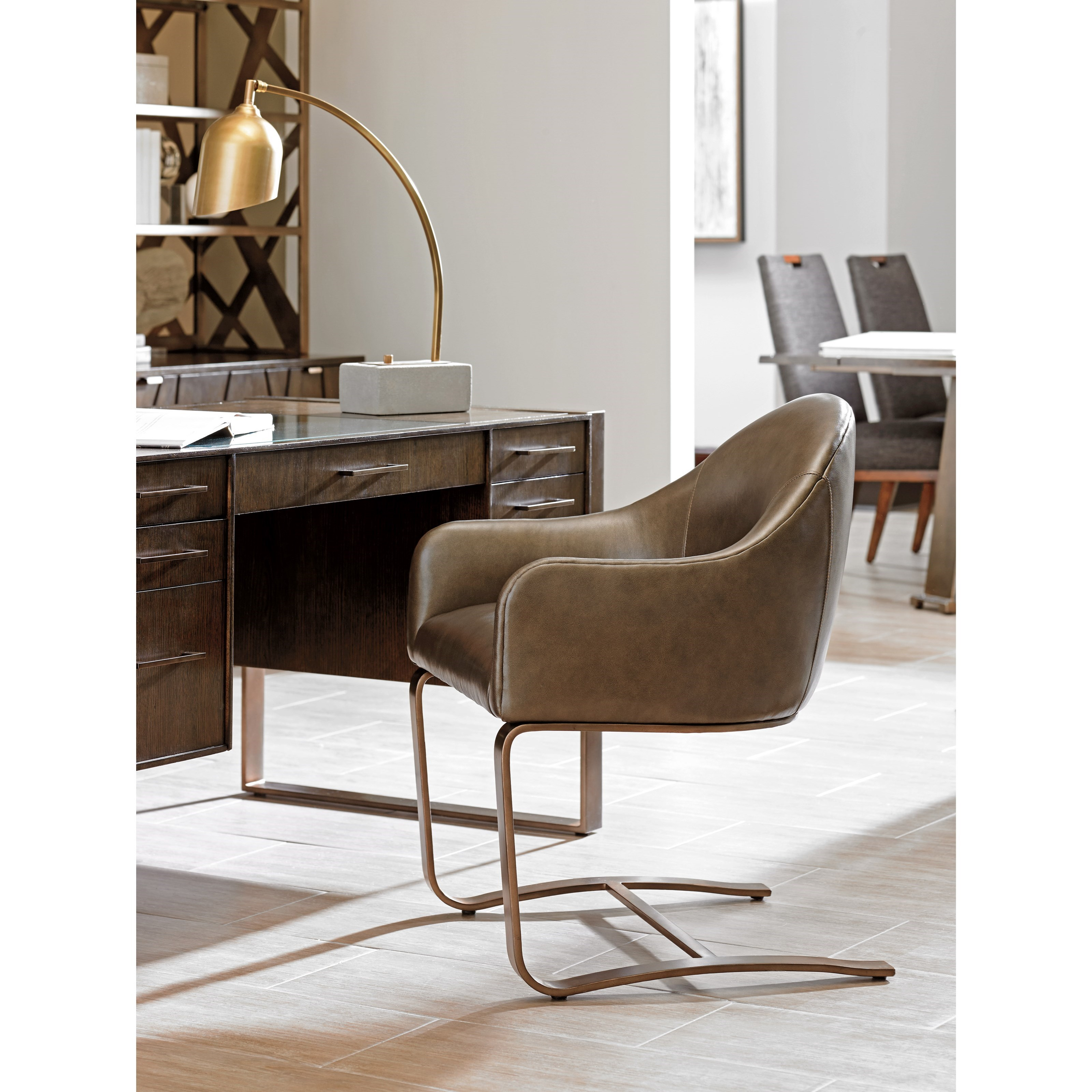 chair connected to desk swing pakistan sligh cross effect 190 438 contemporary upholstered