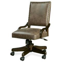Desk Chair Legs Design Minecraft Smartstuff Paula Deen Guys Henry 39s Leather