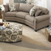 Smith Brothers 393 Traditional Conversation Sofa with ...
